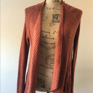 Moth/Anthropologie rust color openfront cardigan